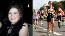 Angela Jonsson: 'To say running a marathon changed my life would be an understatement. Today, with 10 marathons, a dozen or so half marathons and recently qualifying to run the Boston Marathon – running and eating healthy has just become a way of life.'