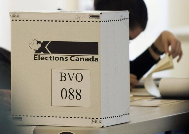 An Elections Canada ballot box is shown on federal election day in Montreal, Monday, May 2, 2011. THE CANADIAN PRESS/Graham Hughes