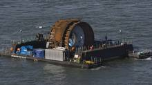 The first commercial in-stream tidal turbine in the Bay of Fundy near Parrsboro, N.S. on Thursday, Nov. 12, 2009. Nova Scotia Power and their tidal technology partner, OpenHydro, placed the turbine on the ocean floor to be powered by the force of the tides to produce energy. (ANDREW VAUGHAN/The Canadian Press/ANDREW VAUGHAN/The Canadian Press)