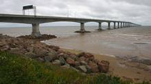 The winding Confederation Bridge links New Brunswick to Prince Edward Island. (Dominik Dabrowski/Getty Images)