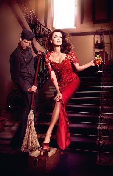 Penelope Cruz in the Campari calendar (Kristian Schuller)