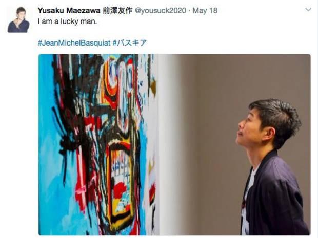 Yusaku Maezawa sent this tweet after purchasing a Jean-Michel Basquiat for $110.5-million U.S.