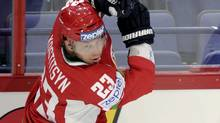 Belarus' Andrei Kostitsyn (Martti Kainulainen/Associated Press)