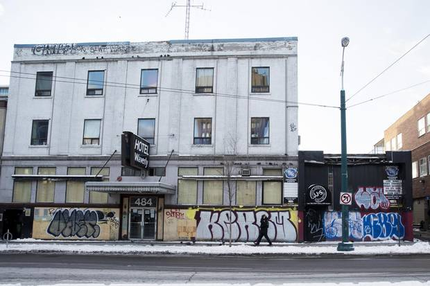 The boarded up Silver Dollar Room, right, joins the number of live music venues that have been shutting down in Toronto.