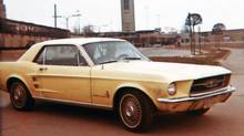 Ruth Anne Choma loved her Mustang so much that she even took a picture of it on her honeymoon, her new husband barely visible behind the wheel. (Ruth Anne Choma)
