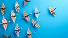 Group Of Origami Birds (Jules_Kitano/Getty Images/iStockphoto)