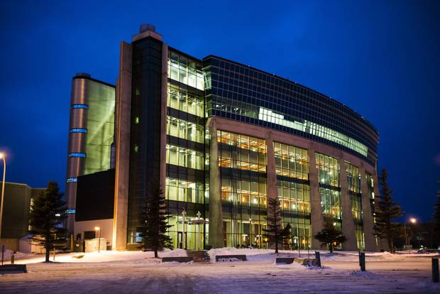 The Advanced Technology and Academic Centre (ATAC) building at Lakehead university in Thunder Bay, where NOSM classes are also held, is photographed on Wednesday, December 20, 2017.