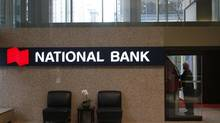 The lobby of National Bank of Canada on King Street in Toronto. (Fernando Morales/The Globe and Mail)