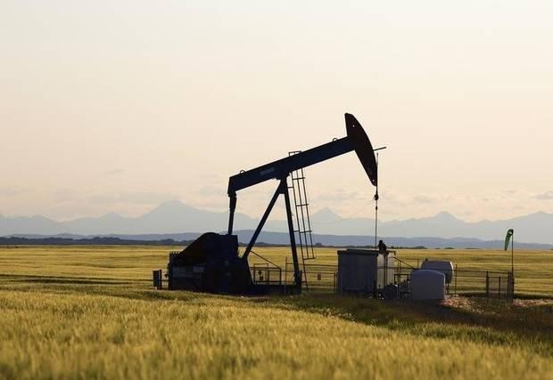 A pumpjack is seen near Calgary in 2014.