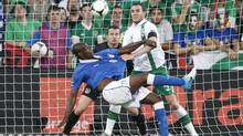 Italy's Mario Balotelli scores his side's second goal during the Euro 2012 soccer championship Group C match between Italy and the Republic of Ireland in Poznan, Poland, Monday, June 18, 2012. (Peter Morrison/AP)