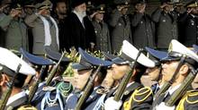 Iran's Supreme Leader Ayatollah Ali Khamenei attends a graduating ceremony for the army land force academy in Tehran Nov. 10, 2011. . (Handout/REUTERS)
