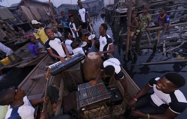 The Makoko neighbourhood of Lagos, Nigeria.