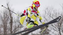 Marielle Thompson of Canada leads this year's world cup ski cross standings with two races remaining. FILE PHOTO: REUTERS/Geoff Robins (Geoff Robins/Reuters)