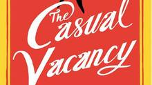 The cover of JK Rowling's next book, The Casual Vacancy, is seen in a photo released by the publisher in London. (Handout/Reuters)
