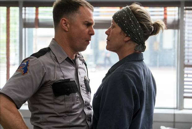 Sam Rockwell and Frances McDormand in the film THREE BILLBOARDS OUTSIDE EBBING, MISSOURI. Photo by Merrick Morton.†© 2017