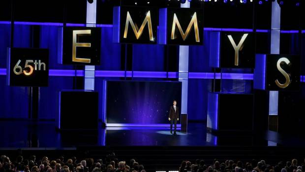Actor and host Neil Patrick Harris opens the show at the 65th Primetime Emmy Awards in Los Angeles September 22, 2013. (MIKE BLAKE/REUTERS)