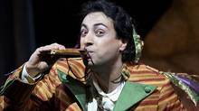 "Rodion Pogossov as Papageno in the Canadian Opera Company production of ""The Magic Flute"" (Michael Cooper)"