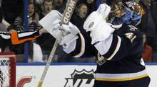 St. Louis Blues goalie Jaroslav Halak. (AP Photo/Jeff Roberson) (Jeff Roberson/AP)