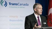 TransCanada CEO Russ Girling at the company AGM in Calgary on April 26, 2013. TransCanada has taken possession of the first of nine Ontario solar power facilities, part of a $470-million transaction it signed in 2011. (Chris Bolin For The Globe and Mail)