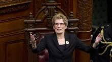 Premier Kathleen Wynne is seen during a swearing-in ceremony at Queen's Park on Feb. 11, 2013. Ms. Wynne says Ontario must forge ahead with a plan to expand its lottery system and contract out its operation because the province needs the money. (Kevin Van Paassen/The Globe and Mail)