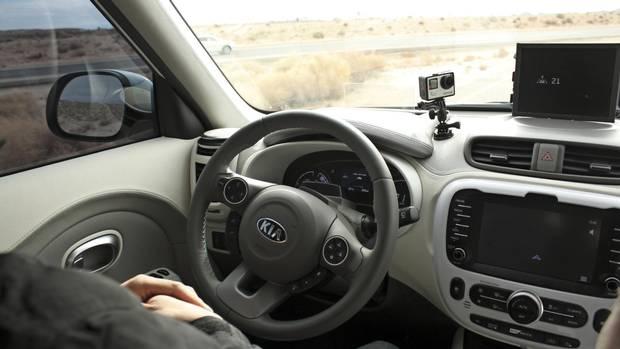 Inside Kia's partially autonomous car