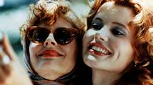Susan Sarandon and Geena Davis in the iconic 1991 film, directed by Ridley Scott.