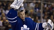 Former Toronto Maple Leafs goaltender Justin Pogge has been promoted to the Anaheim Ducks from their East Coast Hockey League affiliate. (CHRIS YOUNG/CP)