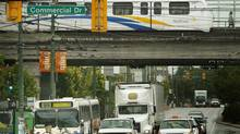 Vancouver's TransLink announced a $1 million study and public consultation process to explore options toward completion of the Millennium Line in 2007. The city is beginning a new study on rapid transit in an attempt to fix overcrowded transit. (JOHN LEHMANN/The Globe and Mail)