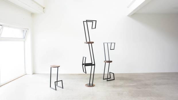 Corktown stools by Mischa Couvrette.
