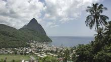 Piton Peaks in the Caribbean islands at St. Lucia. (Stock photo/Thinkstock)