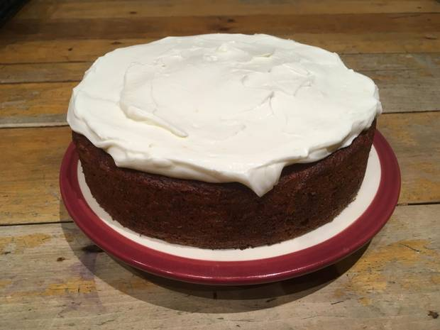 Beet, Ginger and Sour Cream Cake baked by Ian Brown.