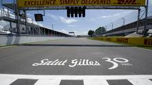 The finish line at the Canadian Grand Prix commemorates the 30th anniversary of the death of Canadian driver Gilles Villeneuve. (Paul Chiasson/THE CANADIAN PRESS)