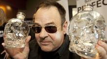 Canadian Actor Dan Aykroyd holds his Crystal Head Vodka in Kelowna, B.C. on Wednesday September 22, 2010. (Jeff Bassett for The Globe and Mail/Jeff Bassett for The Globe and Mail)