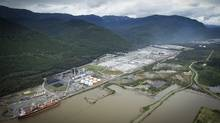Rio Tinto Alcan smelter in Kitimat, B.C., Sept. 28, 2011. (JOHN LEHMANN/The Globe and Mail/JOHN LEHMANN/The Globe and Mail)