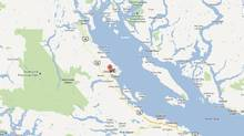 Courtenay, B.C., the general area in which an elderly couple apparently went missing in September, is pictured in this Google Map screengrab (Google Maps/Google Maps)