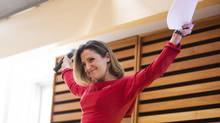 Chrystia Freeland, shown Sept. 15, 2013, will be the Liberal Party candidate in the by-election to replace Bob Rae as the MP for Toronto Centre. (MICHELLE SIU FOR THE GLOBE AND MAIL)