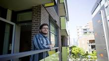 Yuri Artibise is pictured in his co-op housing unit in Vancouver, British Columbia on May 8, 2013. (Ben Nelms For The Globe & Mail)