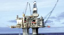 The Hibernia offshore oil drilling platform