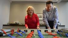 Gitta Frazer, who has Parkinson's disease, will participate in the race her son Mitch Frazer, right, has organized in honour of her 70th birthday. (Fred Lum/The Globe and Mail)
