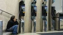 The joint application by Bell Canada and Bell Aliant Application for a 100-per-cent increases in payphone rates is a cash grab that would 'destroy' usage, consumer groups argue. (Randall Moore/The Globe and Mail/Randall Moore/The Globe and Mail)