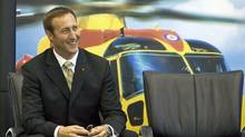 Defence Minister Peter MacKay waits to make an announcement on a search-and-rescue helicopter maintenance contract in Halifax on Sept. 12, 2007. (Andrew Vaughan/Andrew Vaughan/The Canadian Press)