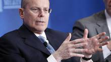 "UnitedHealth Chief Executive Officer Stephen Hemsley takes part in a panel discussion titled ""Getting From Care to Cure"" at the Milken Institute Global Conference in Beverly Hills, California in this May 1, 2012 file photo. (DANNY MOLOSHOK/REUTERS)"