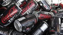 In this Nov. 20, 2010 photo, cans of Coca-Cola Zero are shown at Homestead-Miami Speedway in Homestead. Fla. (Wilfredo Lee/AP)