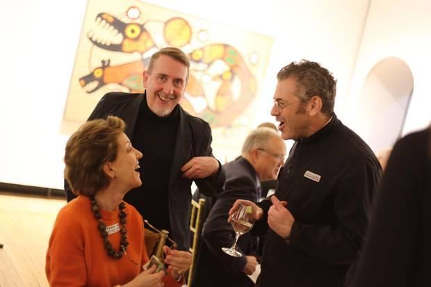 Art collector and philanthropist Dasha Shenkman, Tate Americas Foundation director Richard Hamilton and artist Tom Sachs.