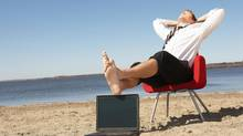 To manage work stress, it's key to find ways to relax during your day. (Jupiterimages/Getty Images)