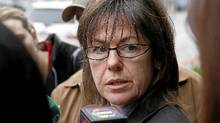 Kim Pate, Executive director Canadian Association of Elizabeth Fry Societies, talks to the media outside of the Coroners Court during a break in the coroner's inquest looking into the death of 19-year-old Ashley Smith, Toronto May 17, 2010. (Fernando Morales/The Globe and Mail)