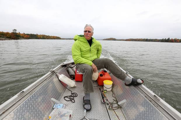 Retired Lieutenant Colonel Rob Martin heads out fishing near Melody Lodge, north of Kingston, Ont.. Mr. Martin has struggled with PTSD, but he finds peace in fishing and nature.