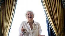 "Actress Elaine Stritch poses for a photograph for the documentary ""Show Stopper: The Theatrical Life of Garth Drabinsky"" during the 2012 Toronto International Film Festival in Toronto on Tuesday Sept. 11, 2012. (Michelle Siu/THE CANADIAN PRESS)"