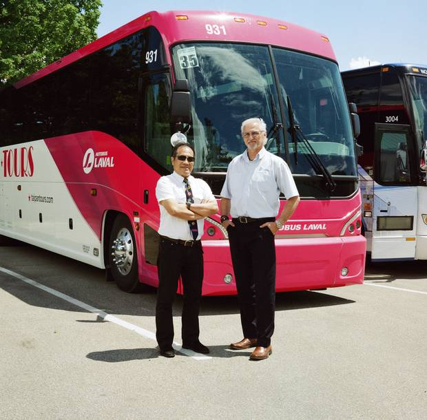 Thousand Islands, Ont.: Tour guide Daniel Cheng and driver Tommy Lee, at the journey's end.