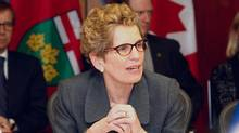 Premier Kathleen Wynne speaks from a Cabinet meeting in Sault Ste. Marie, Ont. on Friday March 1, 2013. (KENNETH ARMSTRONG/THE CANADIAN PRESS)